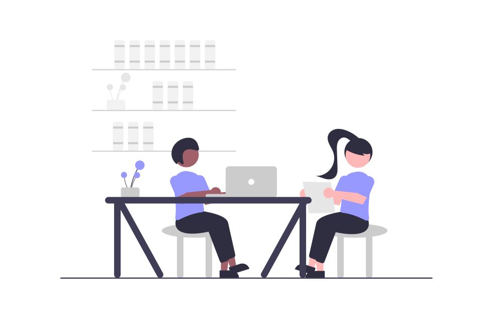 Work Time Illustration